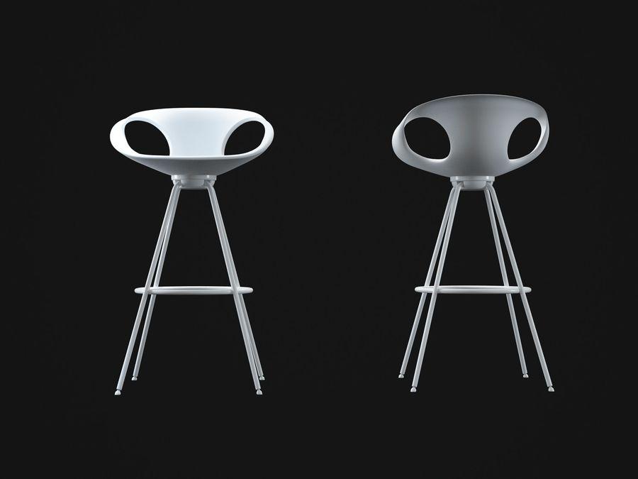 Stołek na krzesło royalty-free 3d model - Preview no. 6