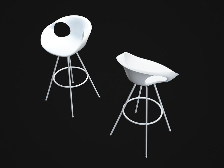 Stołek na krzesło royalty-free 3d model - Preview no. 7