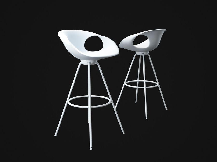Stołek na krzesło royalty-free 3d model - Preview no. 2