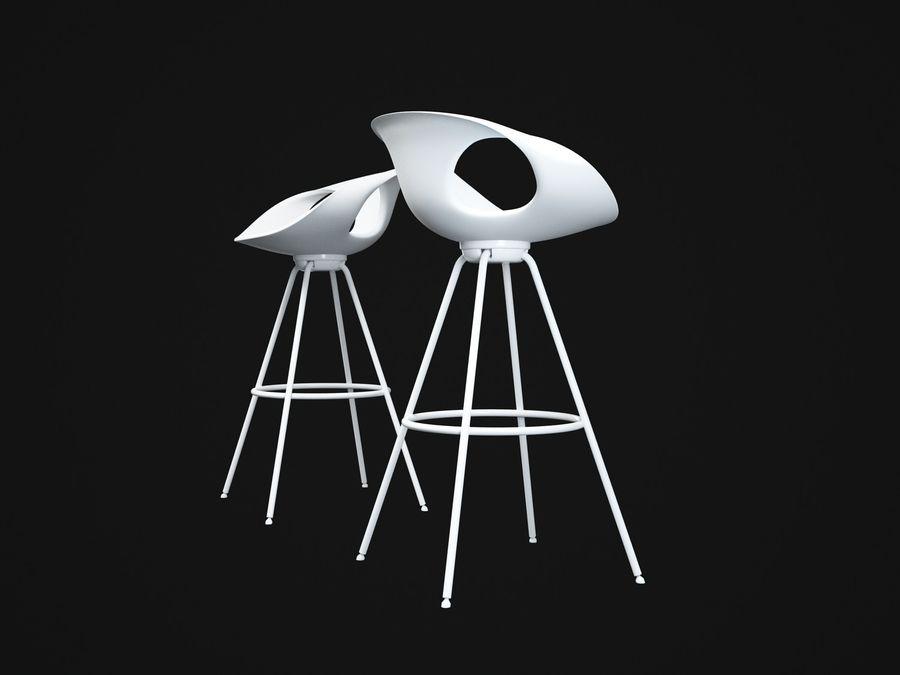 Stołek na krzesło royalty-free 3d model - Preview no. 4