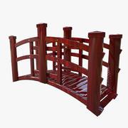 Küçük Kırmızı Japonya Köprüsü 3d model