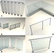 Steel Railing [Bundle] 3d model
