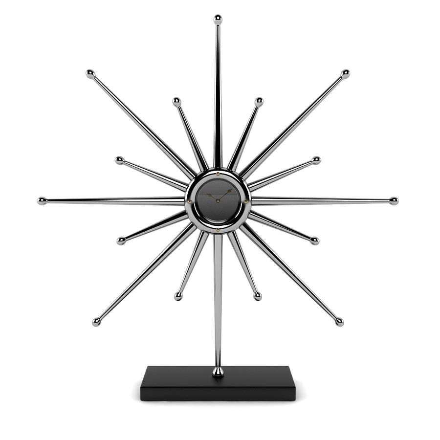 Reloj de escritorio estrella royalty-free modelo 3d - Preview no. 3