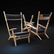 Hans-Wegner-PP129-chair 3d model