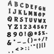 Font (Bubblegum Sans) 3d model
