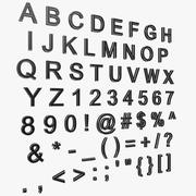 Yazı tipi (Ariel) 3d model
