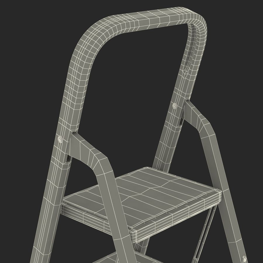 Step Ladder 3D模型 royalty-free 3d model - Preview no. 22