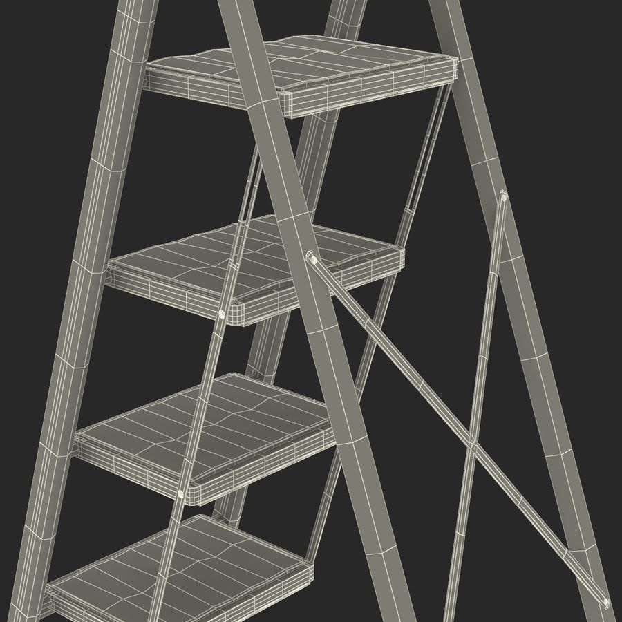 Step Ladder 3D模型 royalty-free 3d model - Preview no. 21