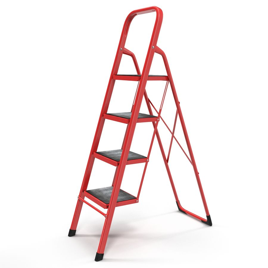 Step Ladder 3D模型 royalty-free 3d model - Preview no. 2