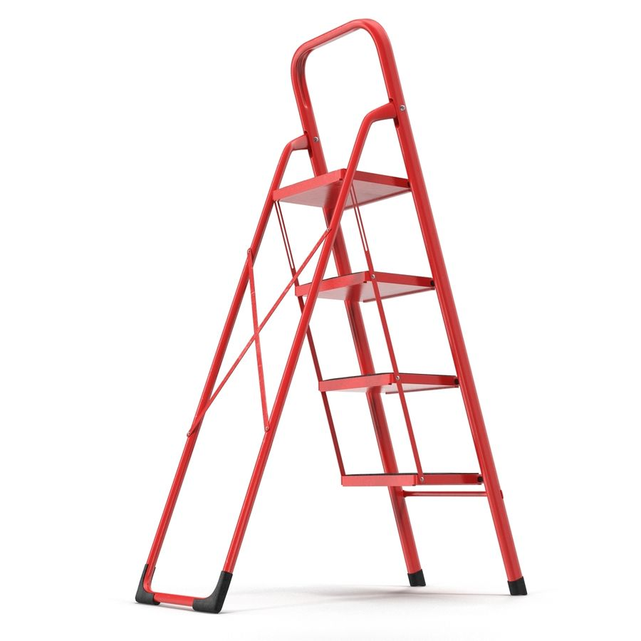 Step Ladder 3D模型 royalty-free 3d model - Preview no. 5