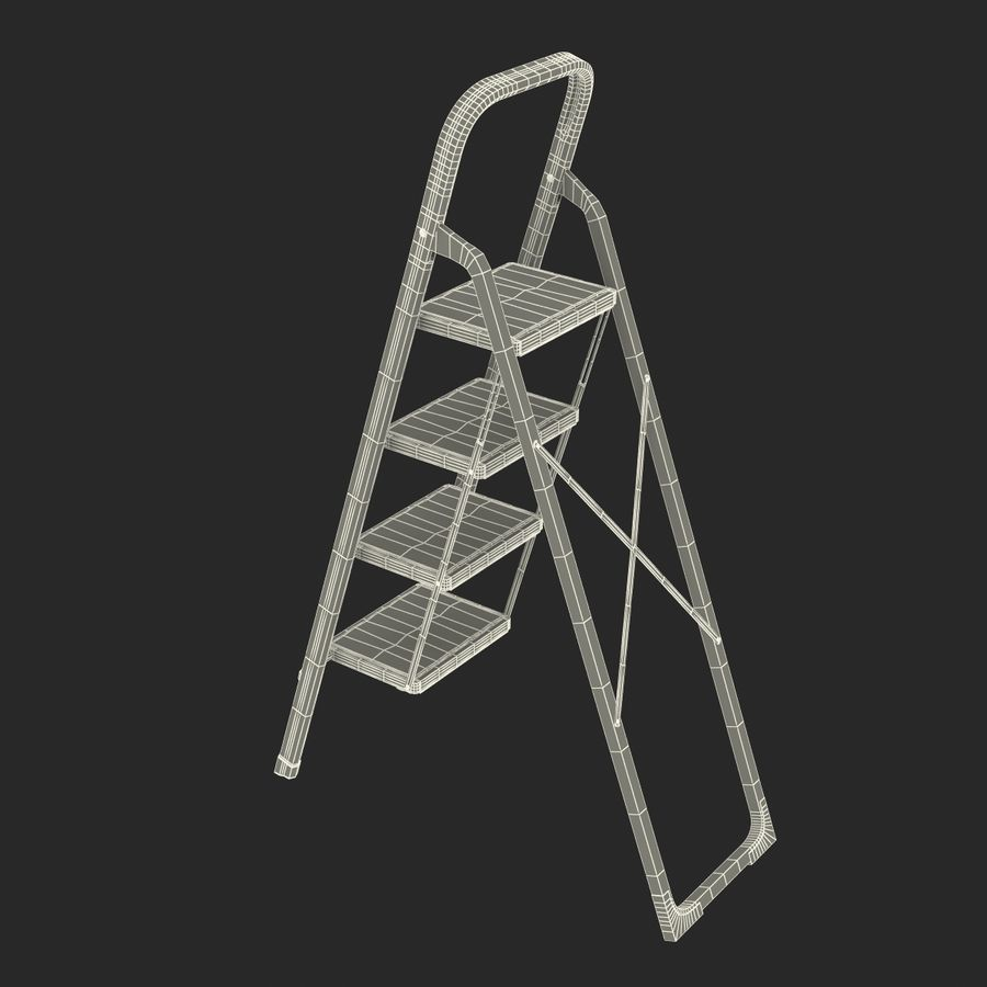 Step Ladder 3D模型 royalty-free 3d model - Preview no. 20