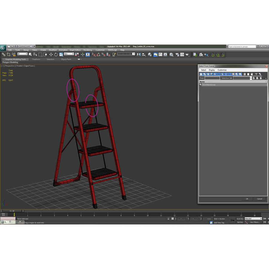 Step Ladder 3D模型 royalty-free 3d model - Preview no. 18