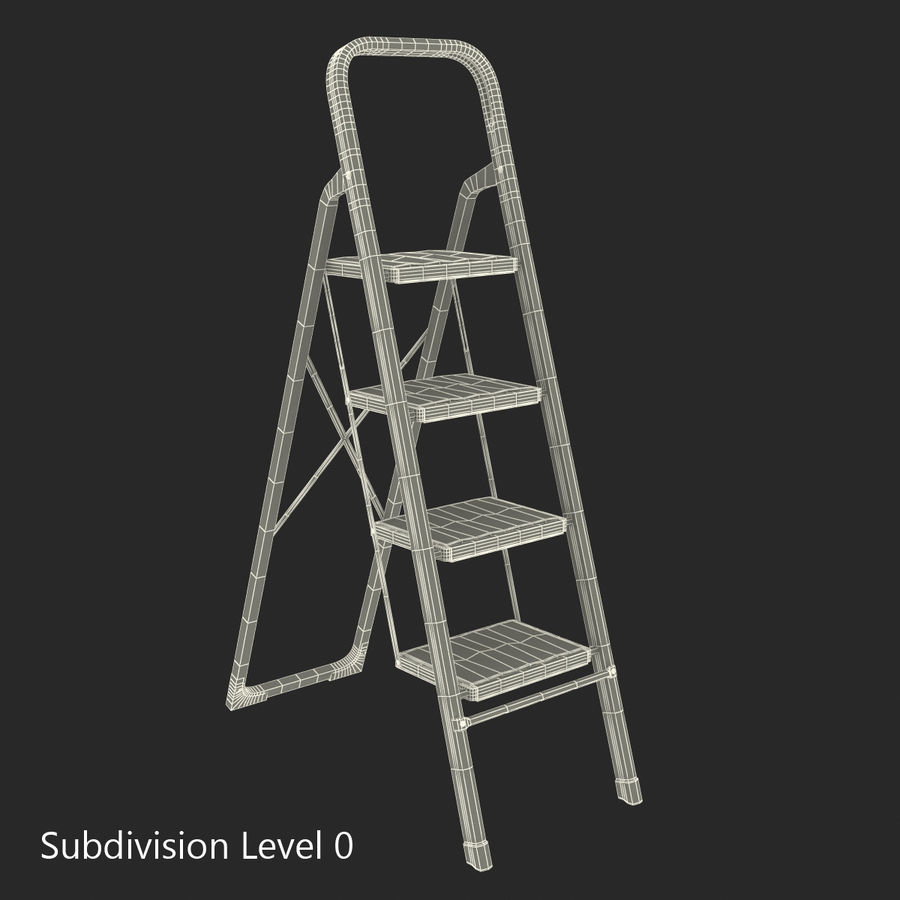 Step Ladder 3D模型 royalty-free 3d model - Preview no. 14
