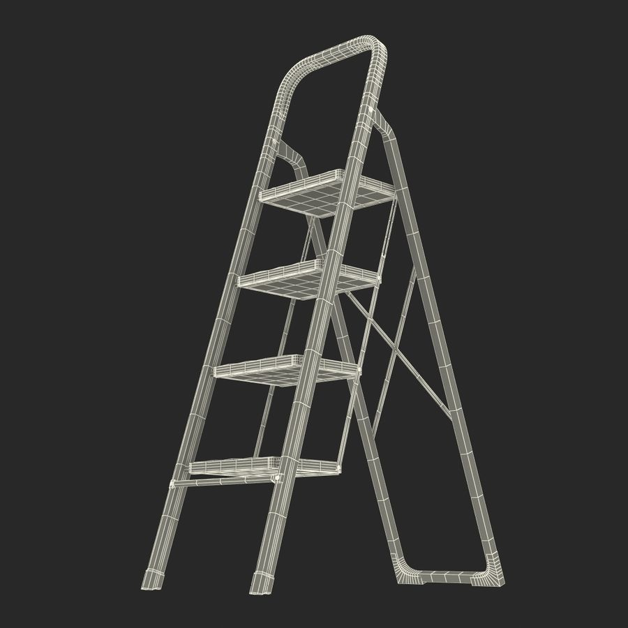Step Ladder 3D模型 royalty-free 3d model - Preview no. 19