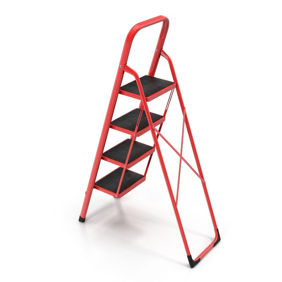Step Ladder 3D模型 royalty-free 3d model - Preview no. 6