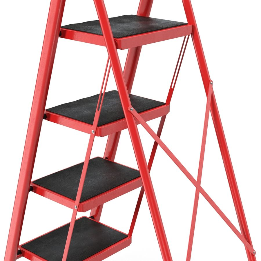 Step Ladder 3D模型 royalty-free 3d model - Preview no. 8
