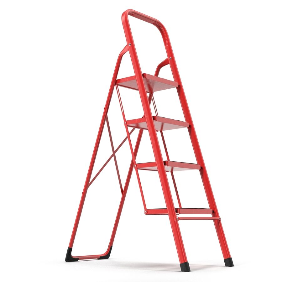 Step Ladder 3D模型 royalty-free 3d model - Preview no. 3