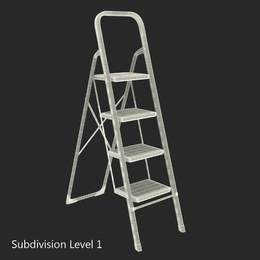 Step Ladder 3D模型 royalty-free 3d model - Preview no. 15