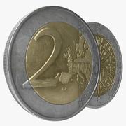 Moeda de 2 Euro França 3d model