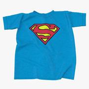 Superman Logo Flat T-Shirt 3d model