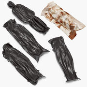 Dead Body Covered with Body Bags and Bloody Sheet 3d model