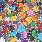 Poker fişleri seti 3d model