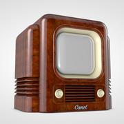 레트로 TV 개념 3d model