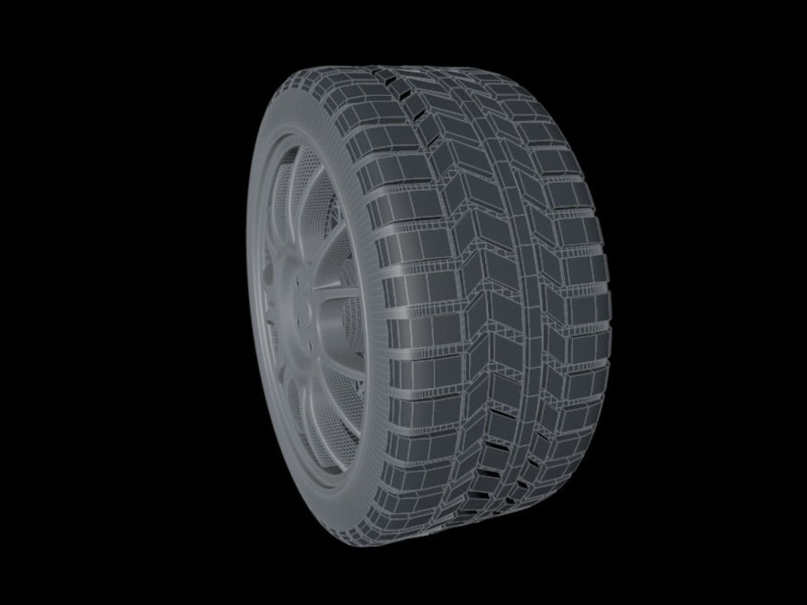 Car Wheel royalty-free 3d model - Preview no. 7