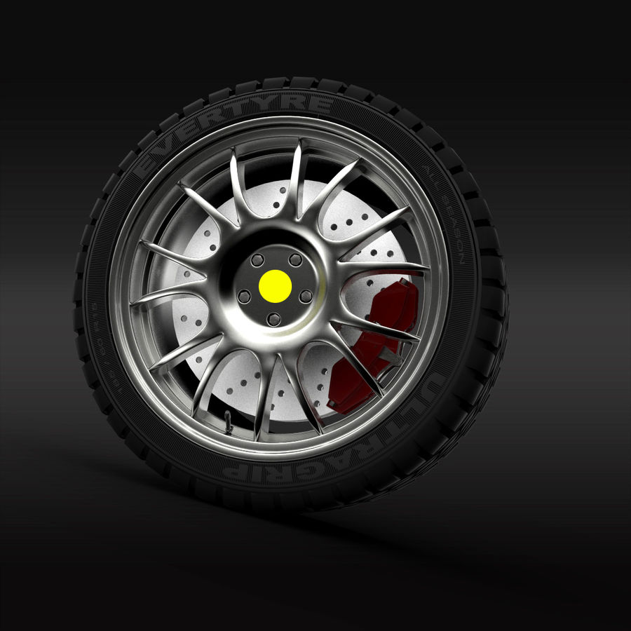 Car Wheel royalty-free 3d model - Preview no. 4