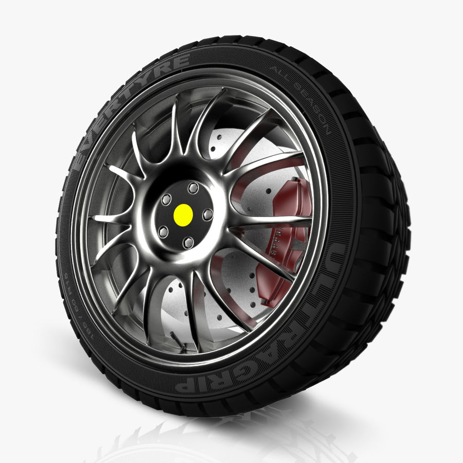 Car Wheel royalty-free 3d model - Preview no. 1