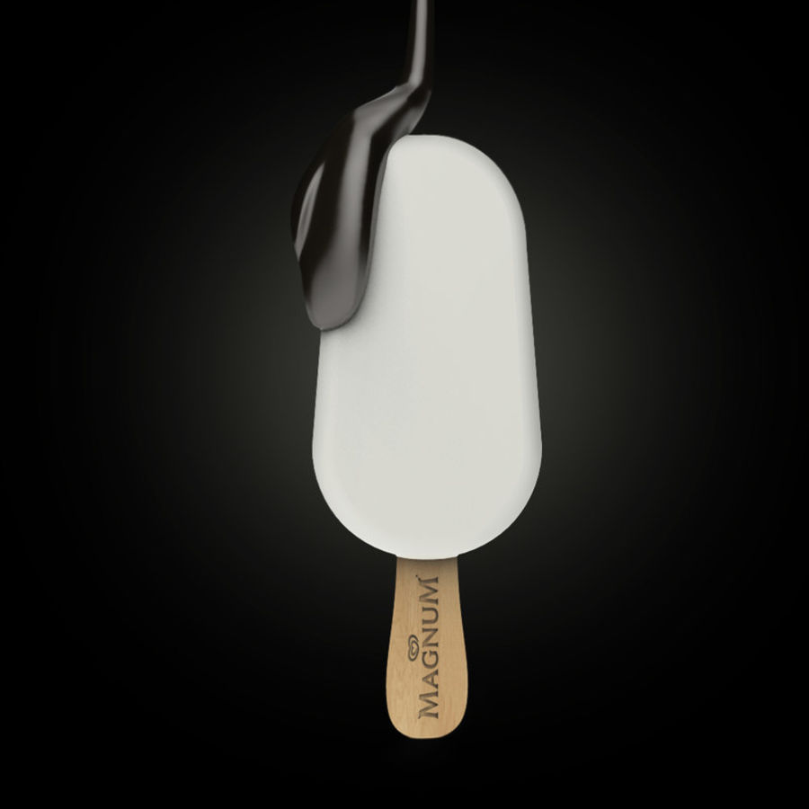 Gelato Magnum royalty-free 3d model - Preview no. 2