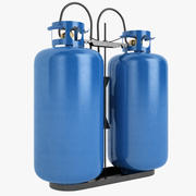 Gas Bottle 01 3d model