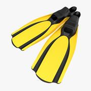 Yüzme Yüzgeçleri 2 3D Model 3d model
