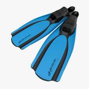 Yüzmek yüzgeçleri 2 mavi 2 3d model
