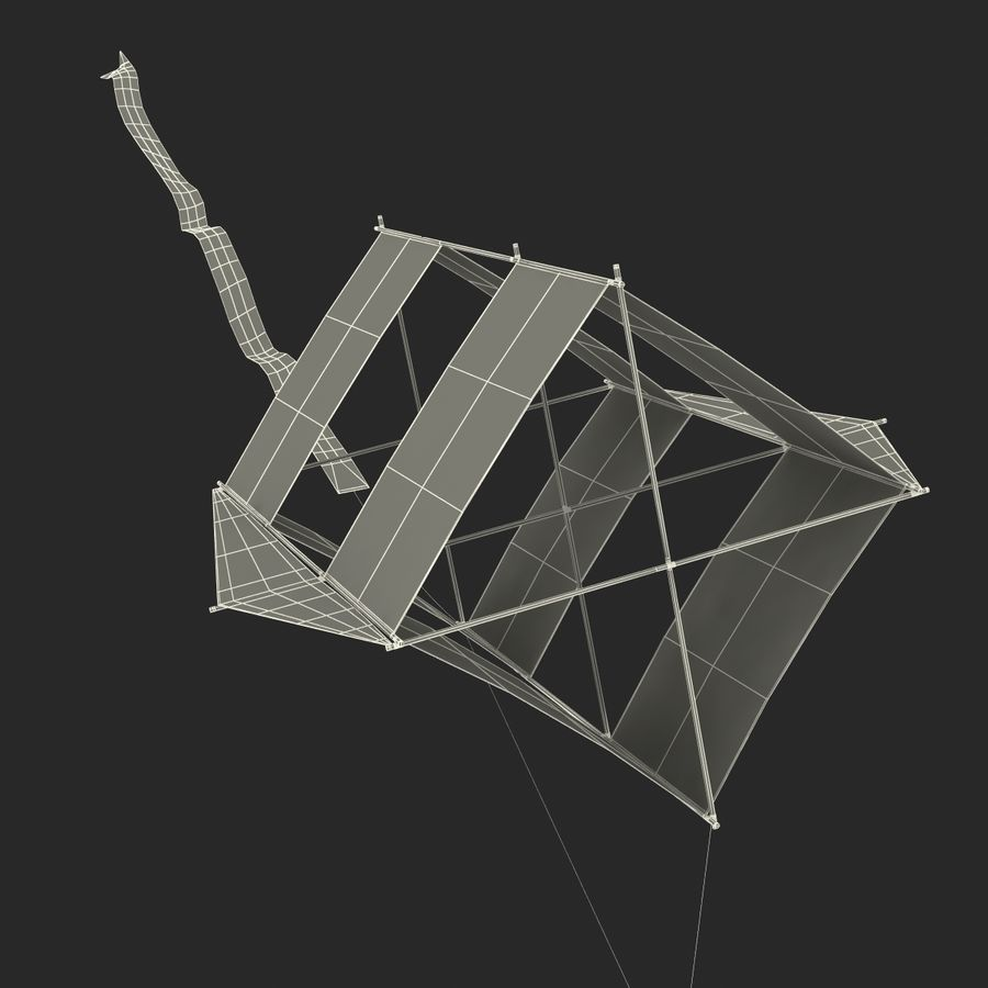 Kite 3 royalty-free 3d model - Preview no. 28