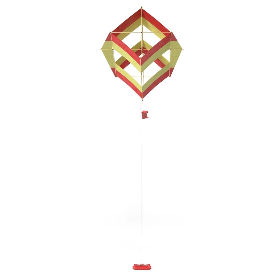 Kite 3 royalty-free 3d model - Preview no. 4
