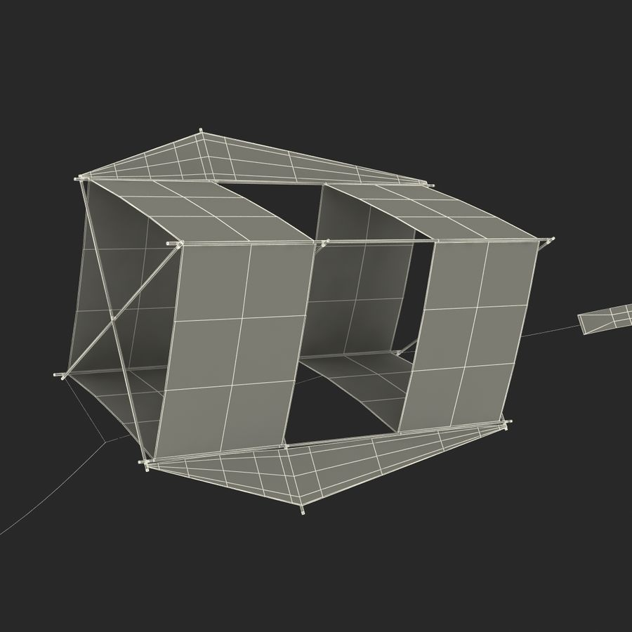Kite 3 royalty-free 3d model - Preview no. 32