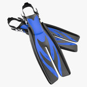 Yüzme Yüzgeçleri 3 Genel 3D Model 3d model