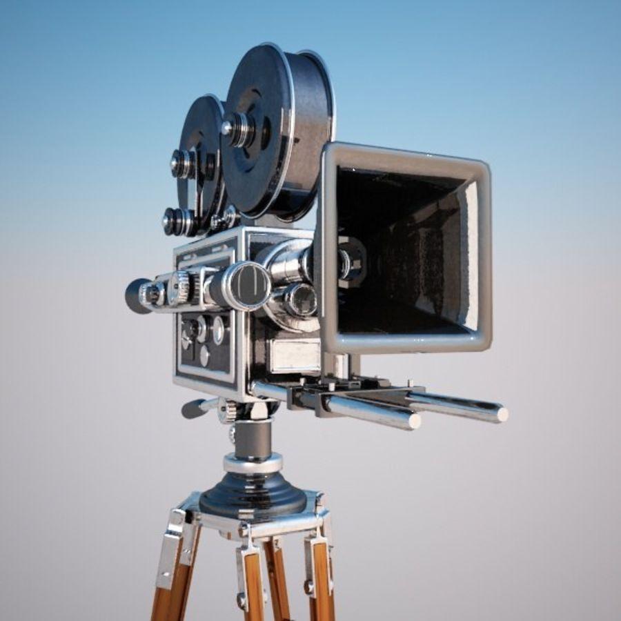 Vintage Movie Camera royalty-free 3d model - Preview no. 7