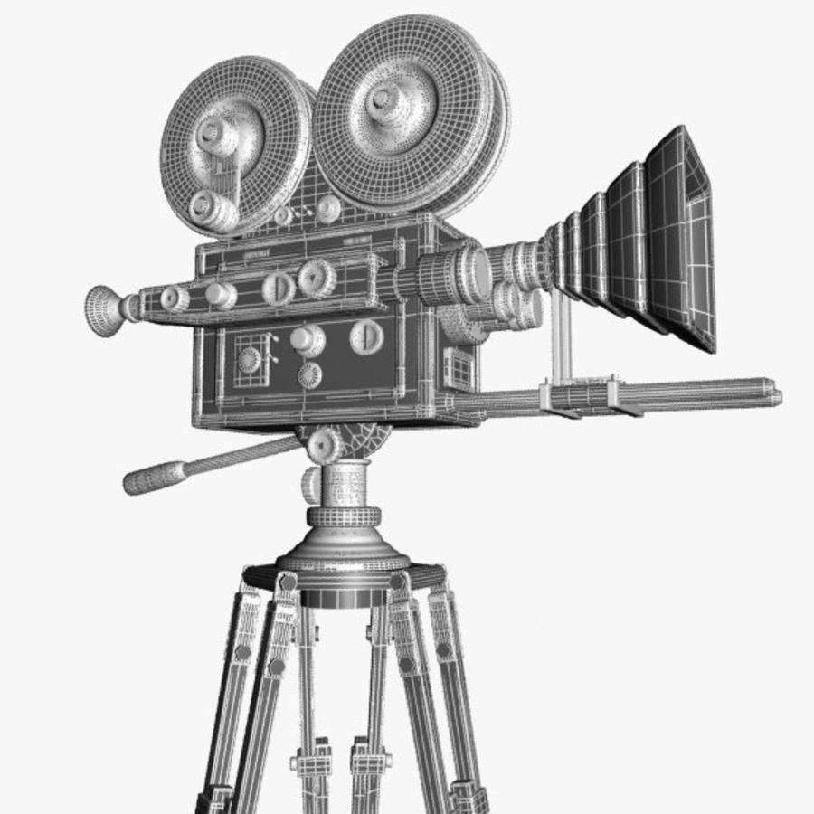 Vintage Movie Camera royalty-free 3d model - Preview no. 11