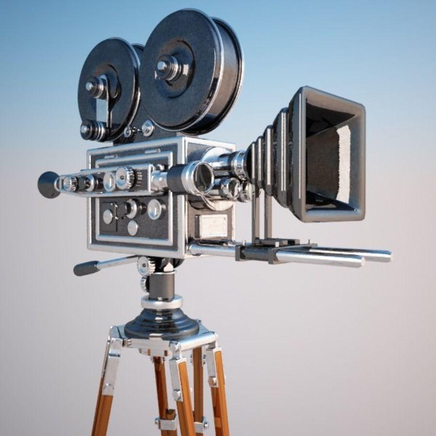 Vintage Movie Camera royalty-free 3d model - Preview no. 1