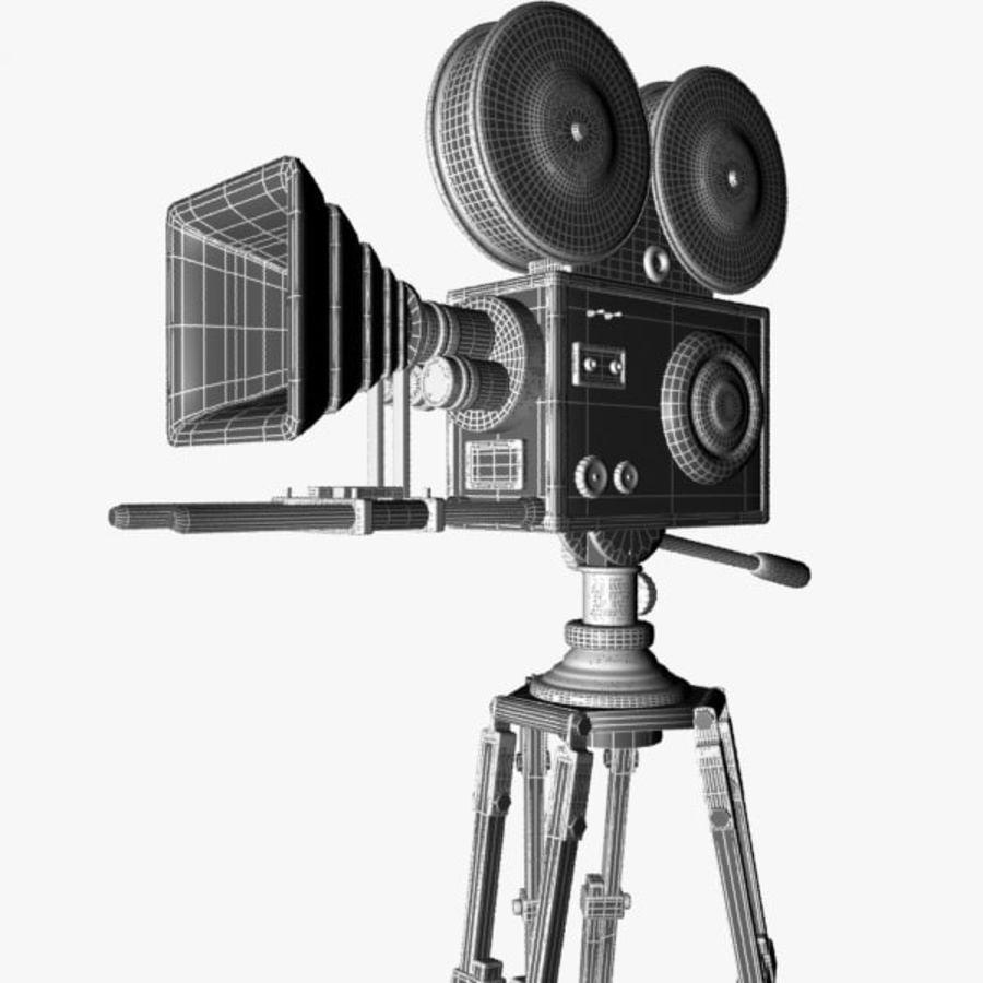 Vintage Movie Camera royalty-free 3d model - Preview no. 12