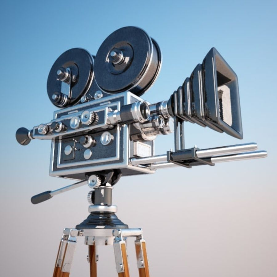 Vintage Movie Camera royalty-free 3d model - Preview no. 2
