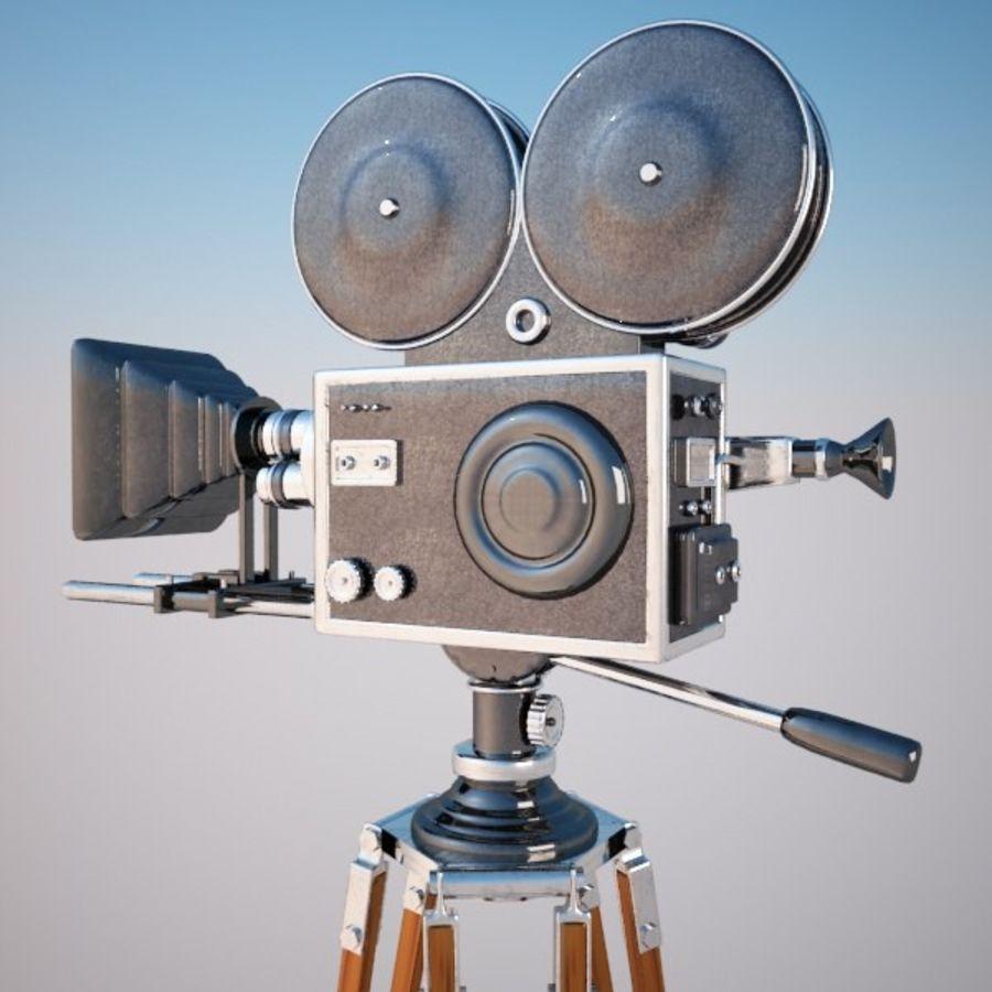Vintage Movie Camera royalty-free 3d model - Preview no. 5