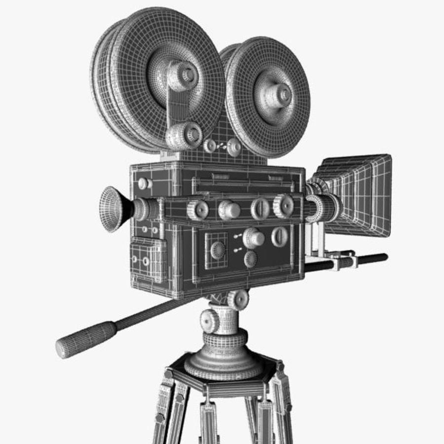 Vintage Movie Camera royalty-free 3d model - Preview no. 13