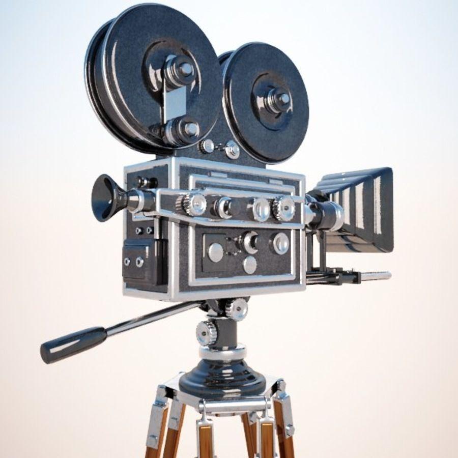 Vintage Movie Camera royalty-free 3d model - Preview no. 4