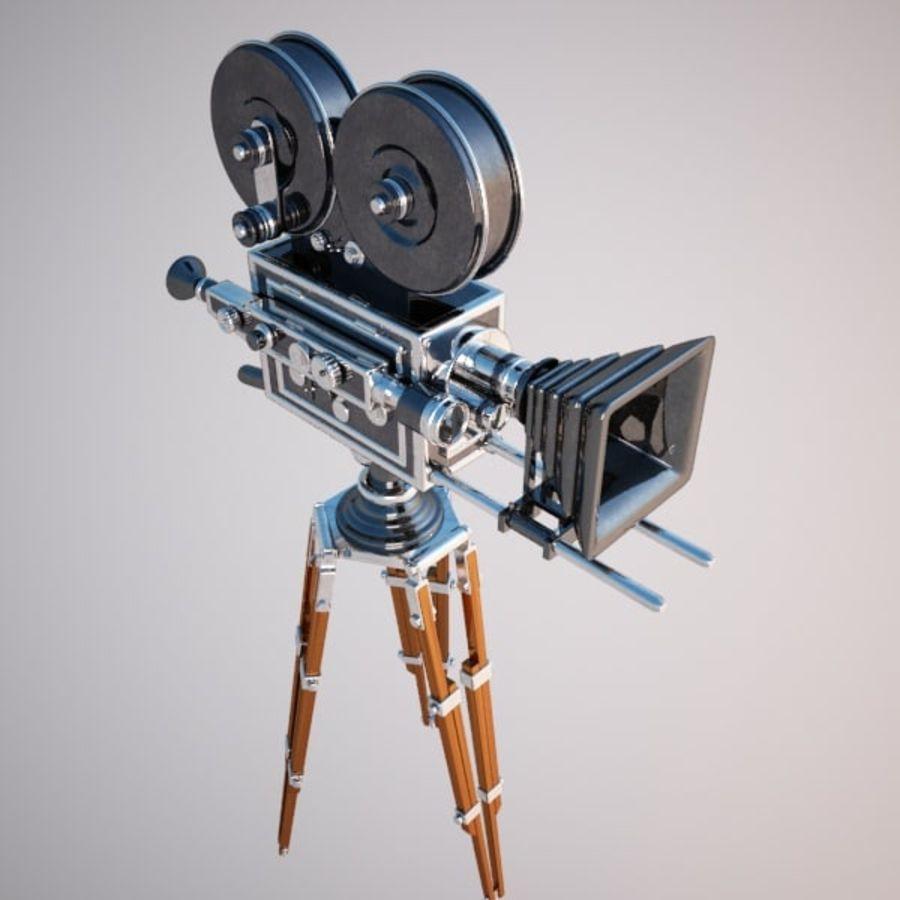 Vintage Movie Camera royalty-free 3d model - Preview no. 8