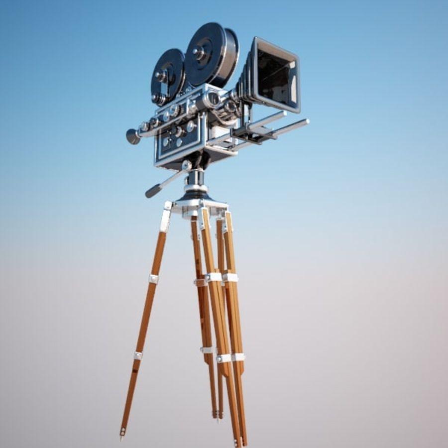 Vintage Movie Camera royalty-free 3d model - Preview no. 9