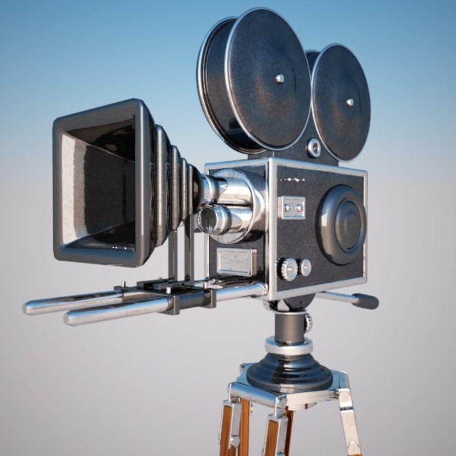 Vintage Movie Camera royalty-free 3d model - Preview no. 6