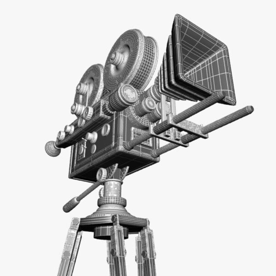 Vintage Movie Camera royalty-free 3d model - Preview no. 14